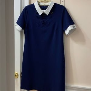 Cynthia Steffe Fully Lined Navy Blue Dress
